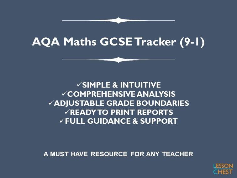 AQA Maths GCSE Exam Tracker (9-1)