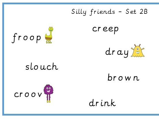 Consonant Cluster 'Silly Friends' Set 2
