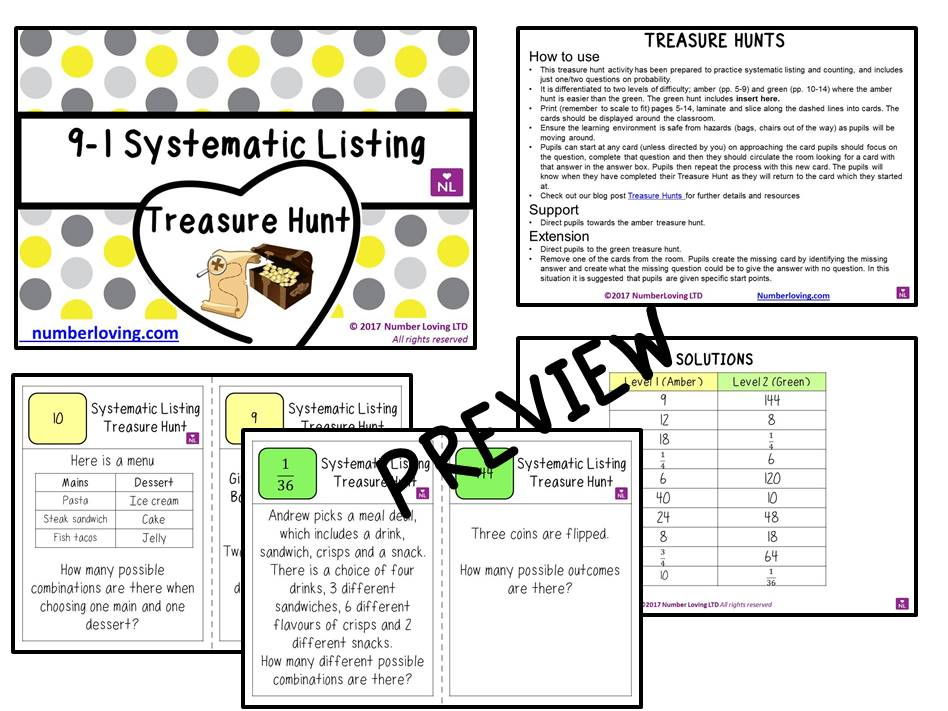 9-1 Sytematic Listing Foundation (Treasure Hunt)