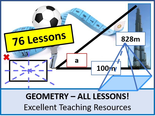 Geometry: ALL Lessons (76 Lessons) + Lots of Resources