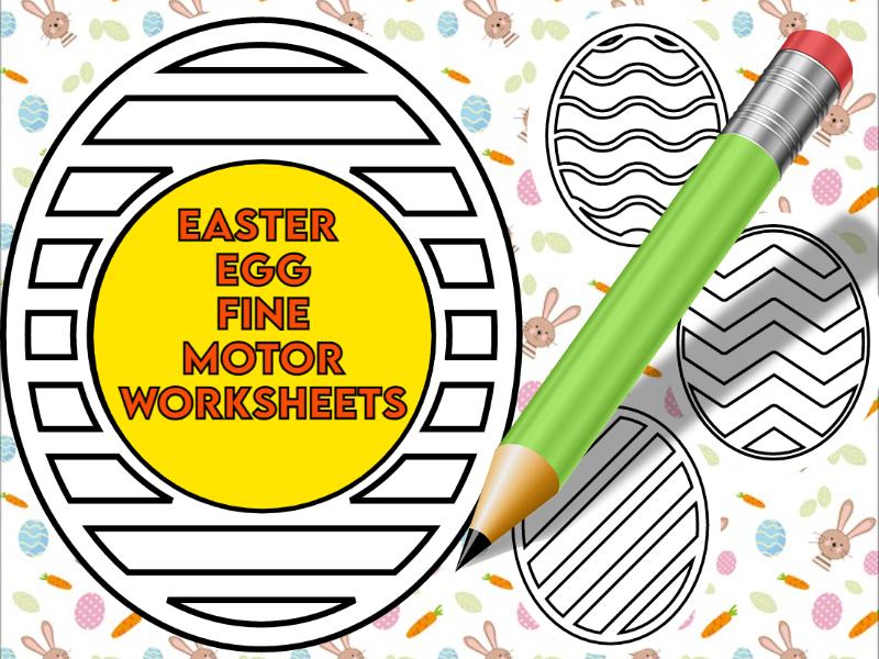 Easter Eggs Fine Motor Worksheets