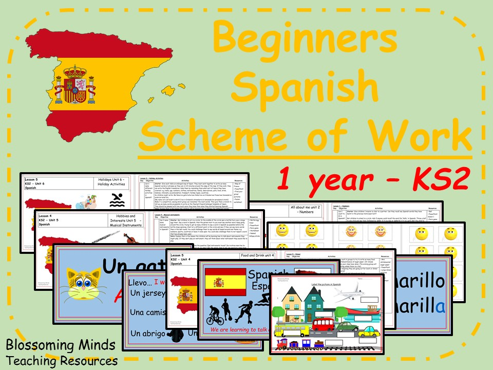 KS2 Spanish Scheme of Work - 1 year (beginners)