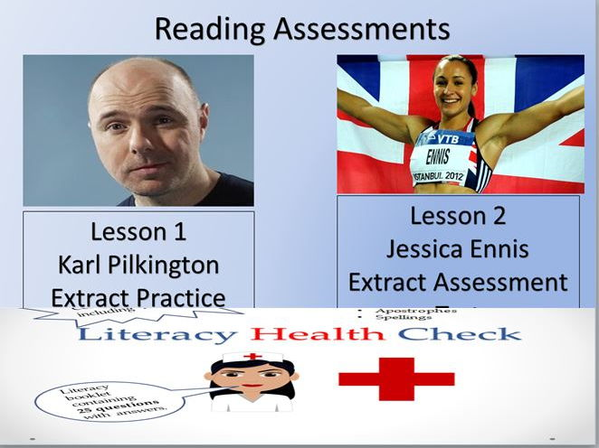 Reading Assessment Lessons and Literacy Test (Suitable for Y6-11, KS2/3/4)