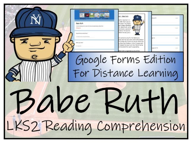 LKS2 Babe Ruth Reading Comprehension & Distance Learning Activity