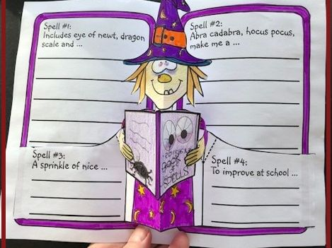 Hallowe'en Crafts - Book of Spells POP-UP