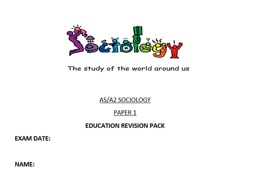 AQA SOCIOLOGY EDUCATION REVISION WORKBOOK AS/A2