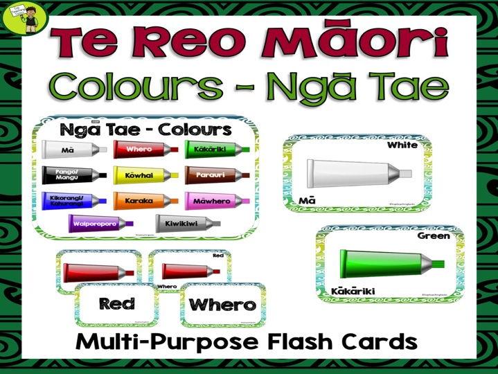 Te Reo Māori Colours Ngā Tae Multi-purpose Flash Cards