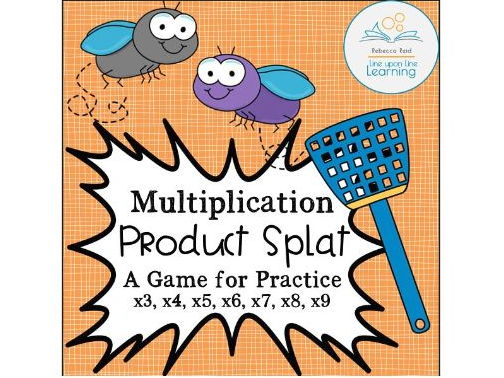 Multiplication Product SPLAT Times Table Game
