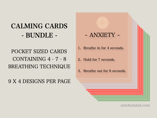 Calming Cards Bundle (Self Esteem + Anxiety)