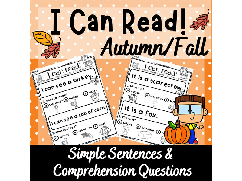 Reading Comprehension KS1 Year 1 Guided Reading Autumn Worksheets