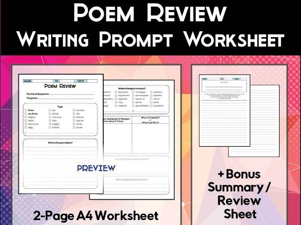 Poem Review Worksheet