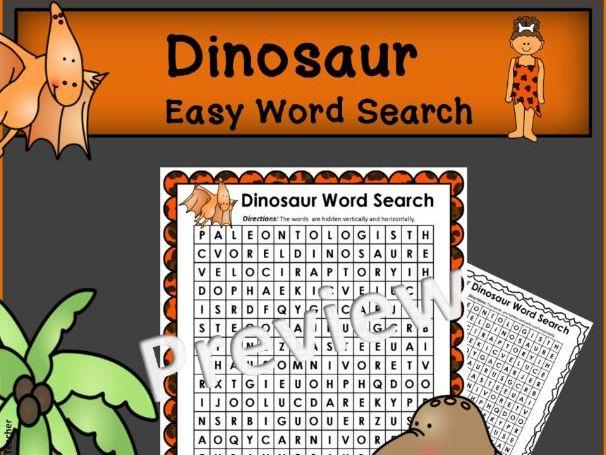 Dinosaur Word Search * EASY