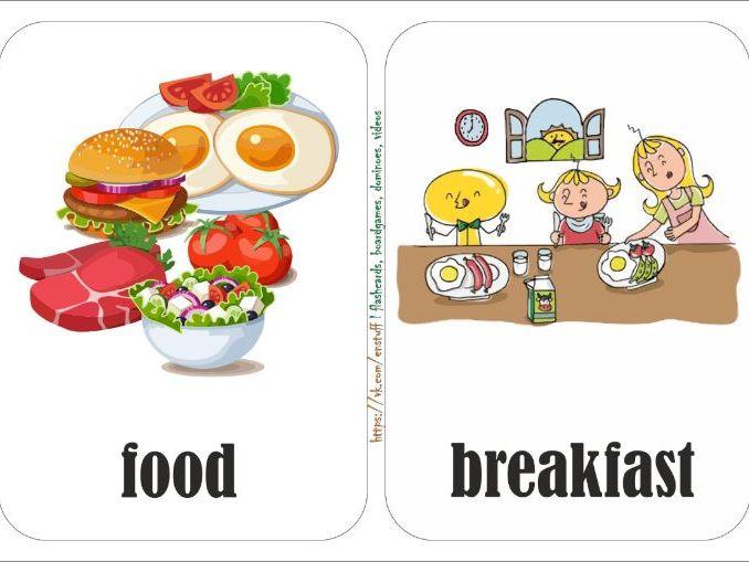 "flashcards ""food"""