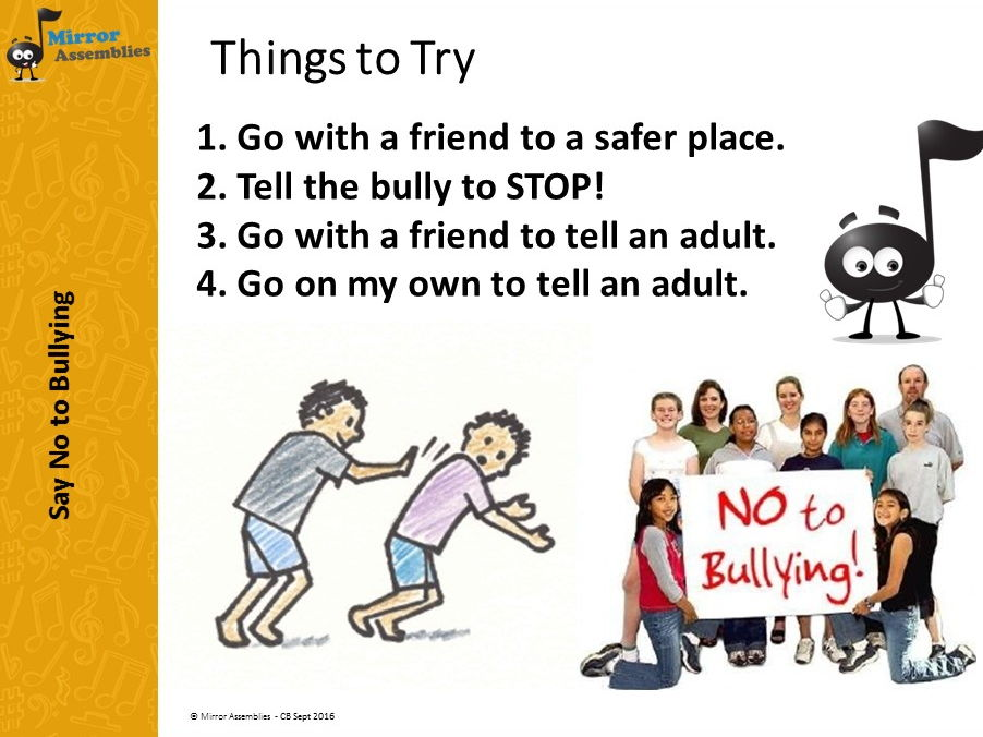 An Assembly for Lower Primary for Anti-bullying week 13-17th November