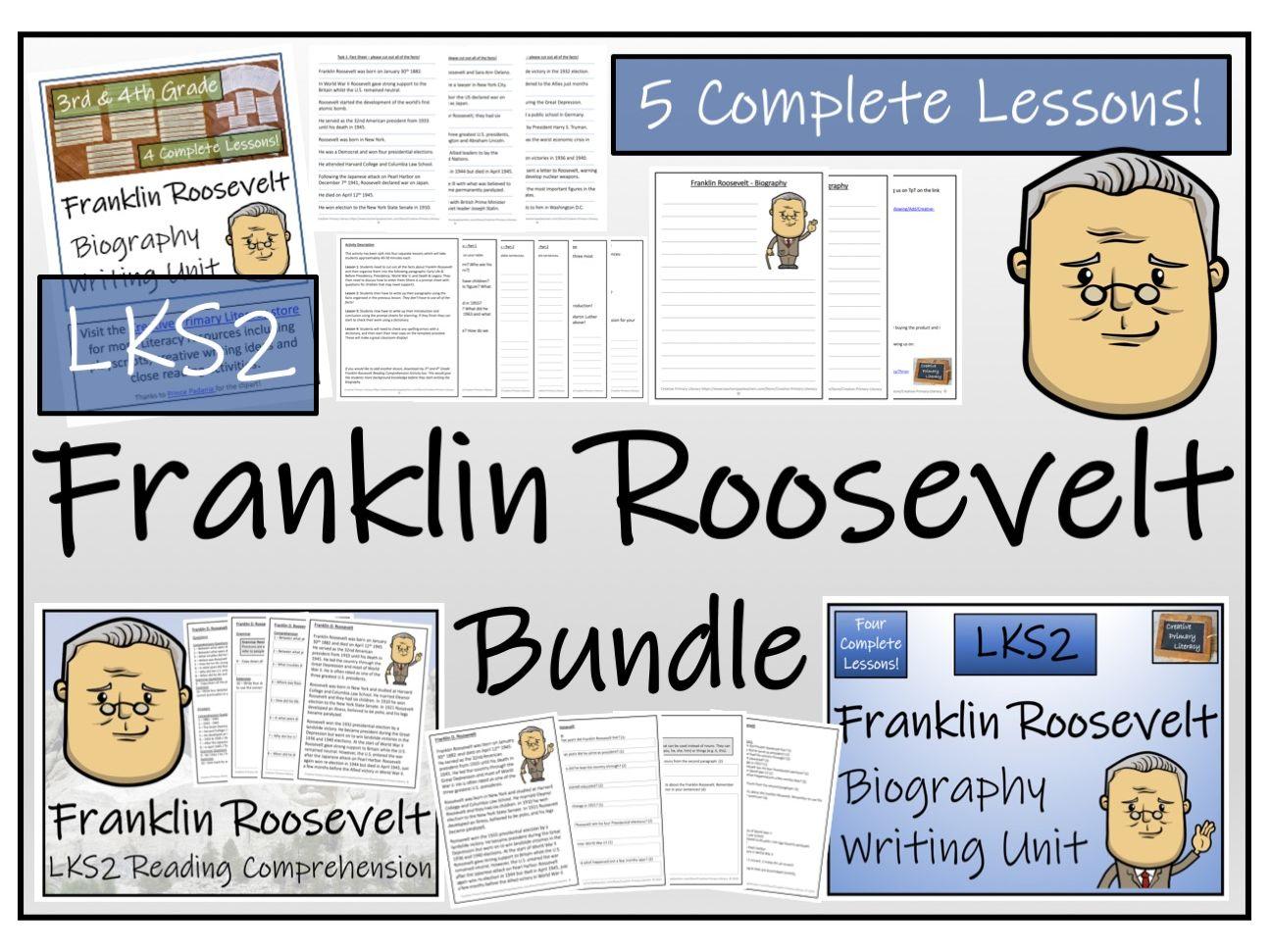 LKS2 History - Franklin Roosevelt Reading Comprehension & Biography Bundle