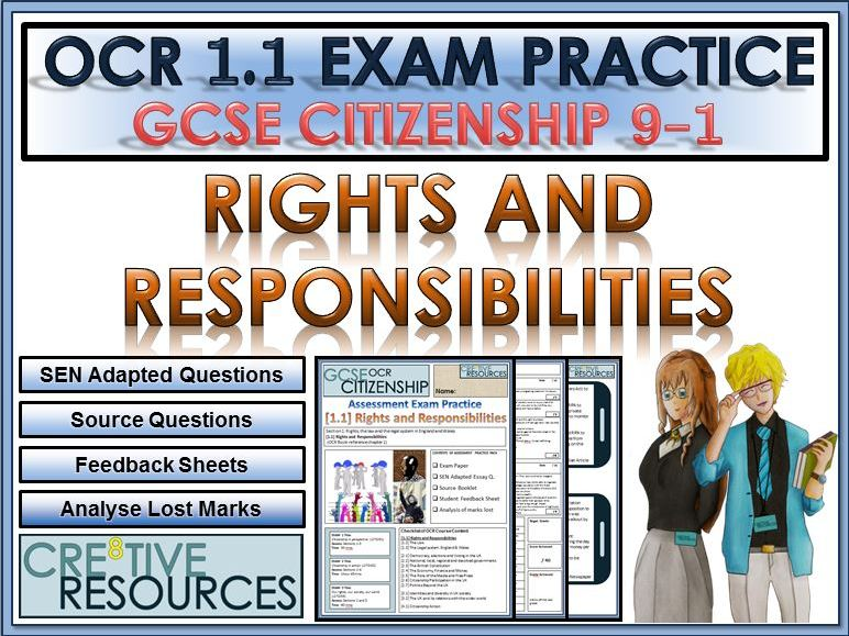9-1 Citizenship OCR GCSE Exam Assessment: Rights and Responsibilities .PDF