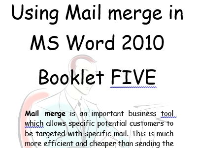 Mail Merge Office 2010  Book 5