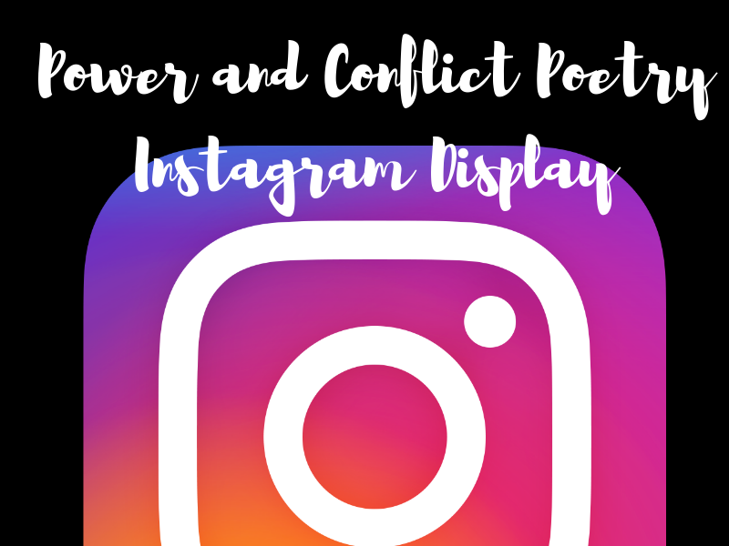 Power and Conflict Poetry Instagram Display