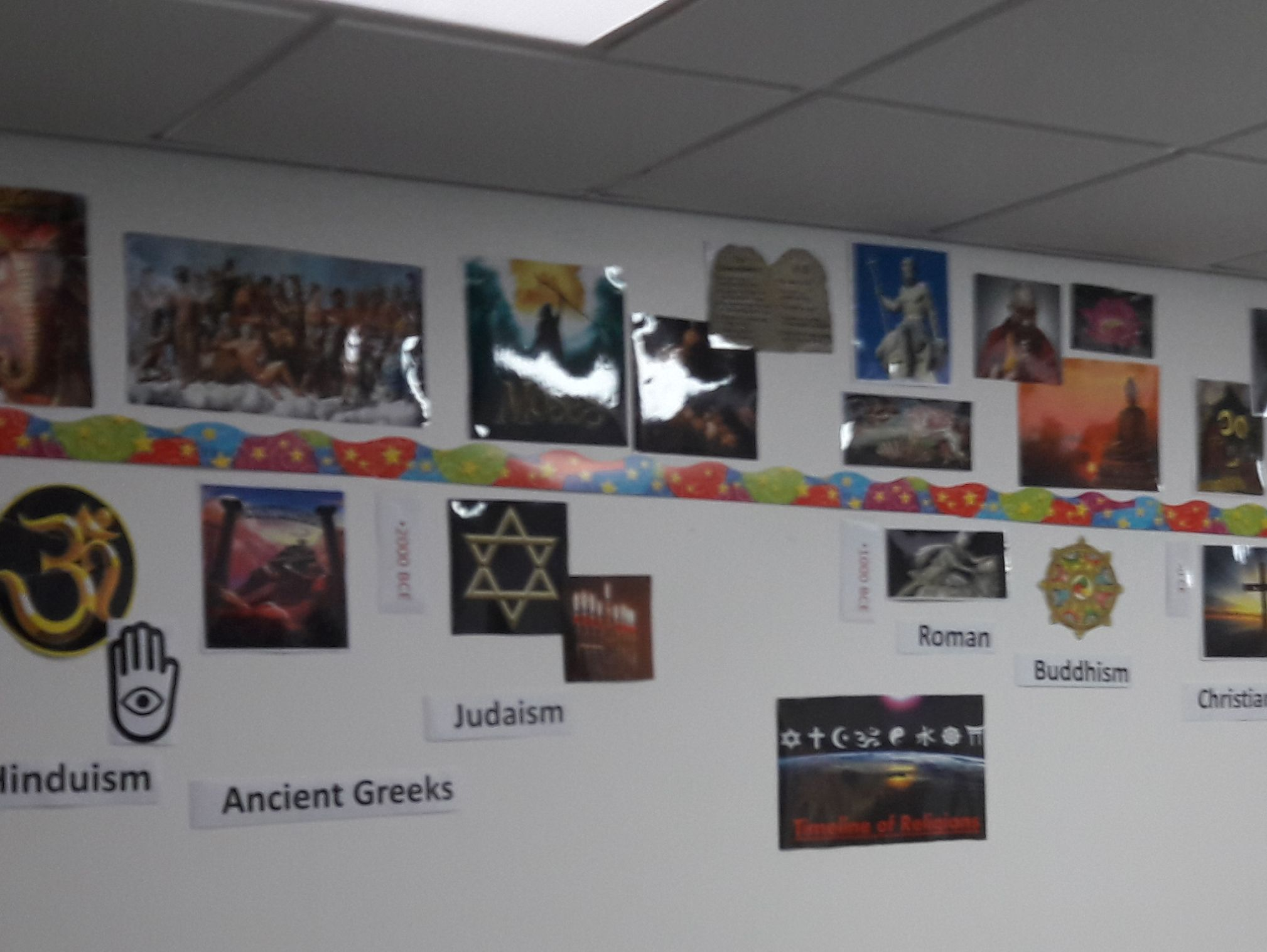 Timeline of Religions Display