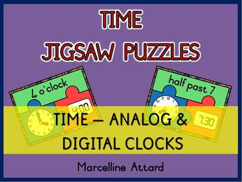 TELLING TIME ACTIVITIES(TIME PUZZLES) TIME TO THE HOUR AND HALF HOUR TIME CENTER