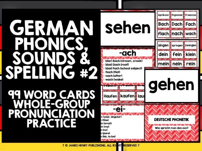 GERMAN PHONICS CARDS #2