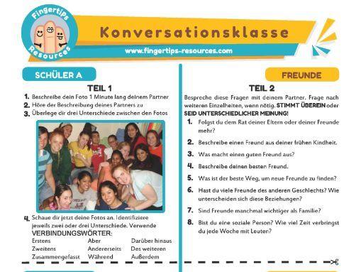 Freunde - German Speaking Activity