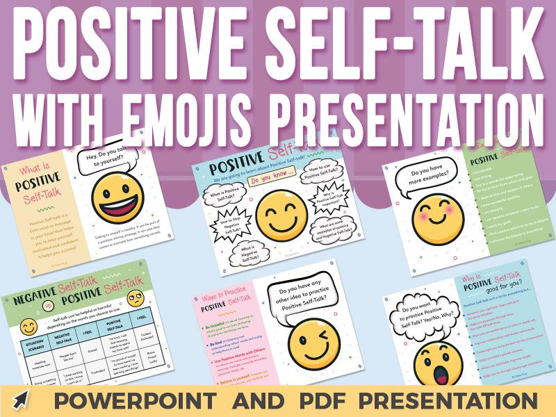 Positive Self-Talk with Emojis - PowerPoint Presentation