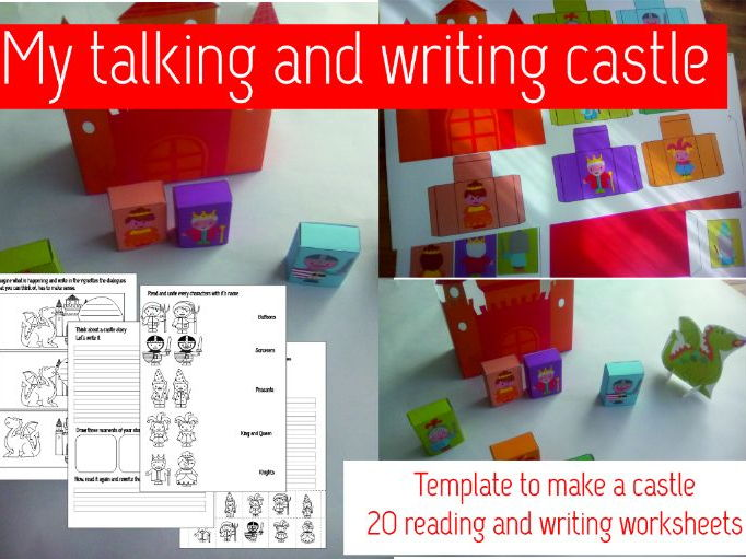 My talking and writing castle.