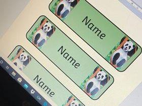 Panda Theme Drawer Labels