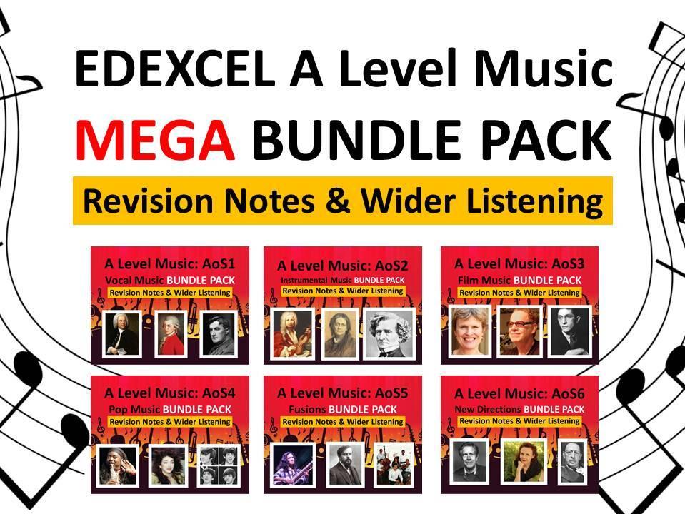 Edexcel A Level Music: Mega Bundle Revision Pack
