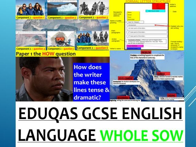 EDUQAS GCSE English Language - COMPLETE Paper 1 & Paper 2 SOW (OVER 60 RESOURCES & PODCASTS)