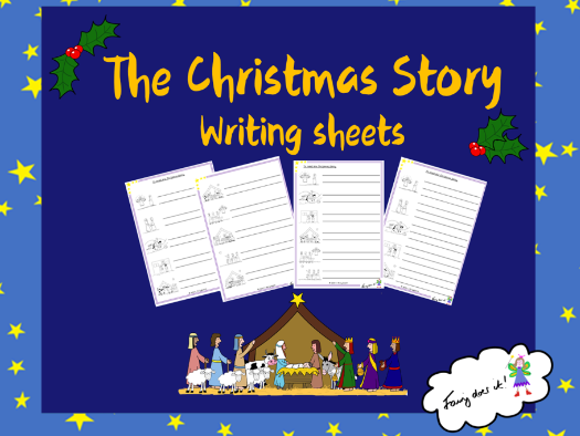 The Christmas Story Writing Sheets
