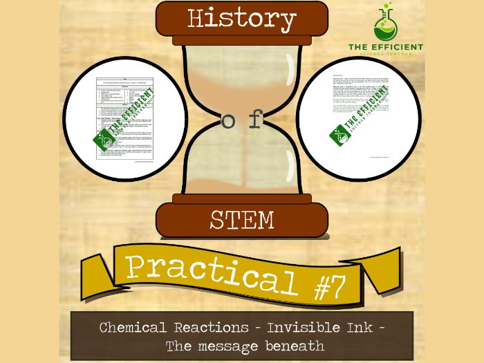 Chemical Reactions - History of STEM practicals - Invisible Ink Practical