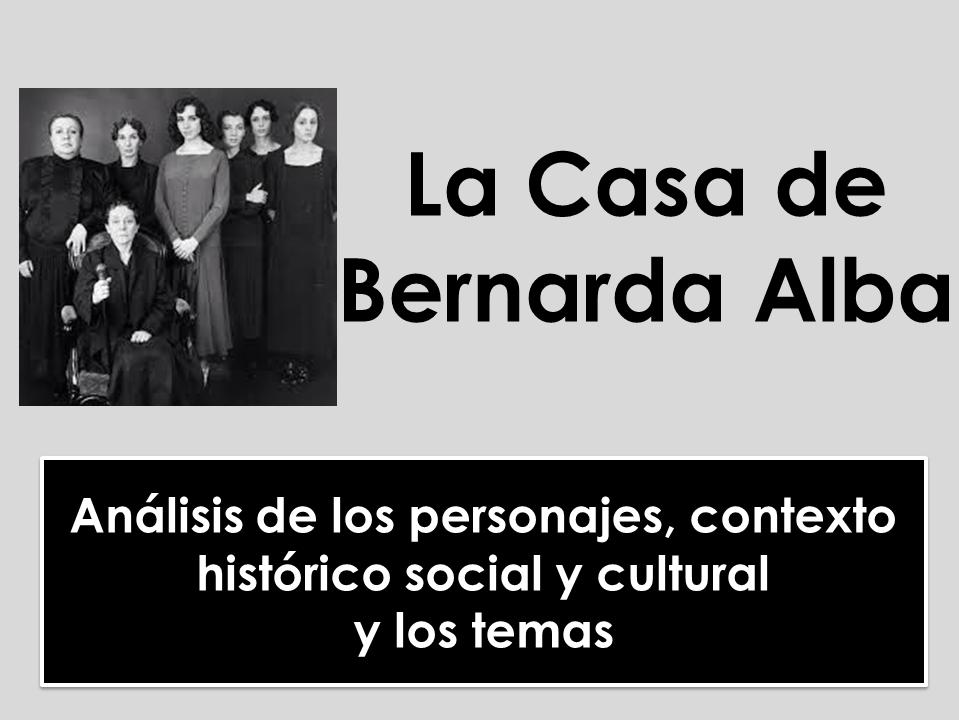A-level Spanish: La Casa de Bernarda Alba - Los personajes, el contexto y los temas