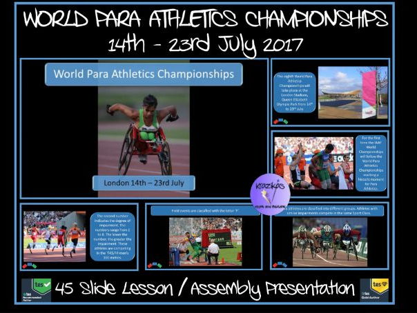 World Para Athletics Championships 2017 (14th - 23rd July 2017) 20% off - Use code GREAT-YEAR