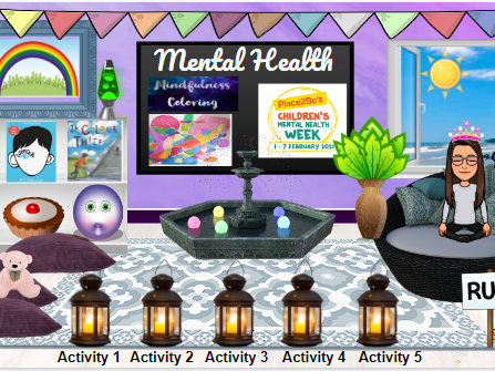 Mental Well-being Virtual Classroom (Bitmoji) Upper