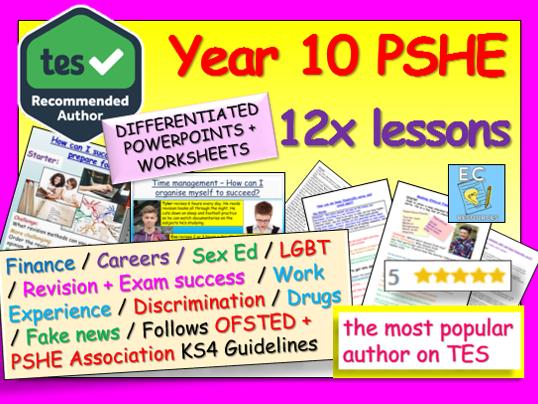 PSHE: Year 10 PSHE