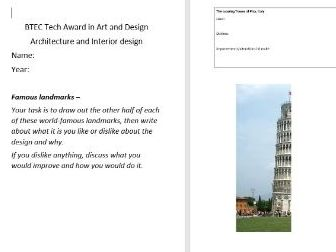 Famous landmarks analysis and design workbook