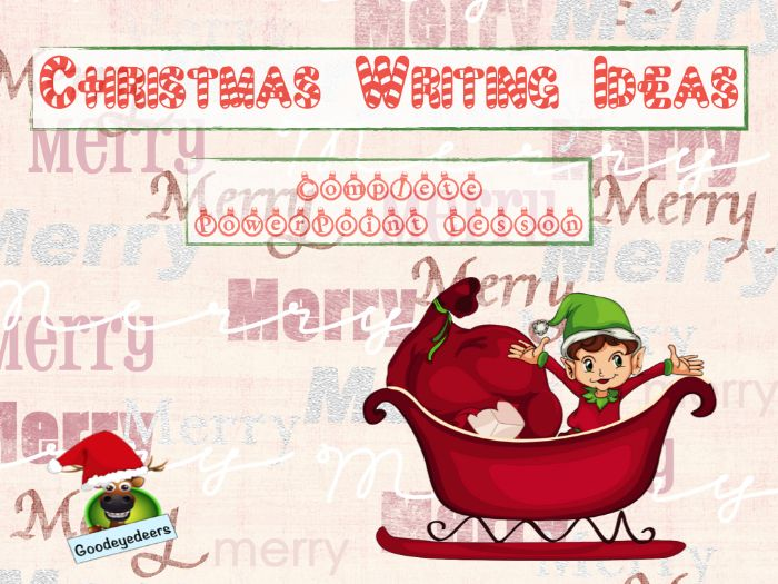 Christmas Writing Ideas - Countdown to Christmas - Complete Lesson