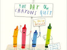 The Day the Crayons Quit (purple crayon) VIPERS questions