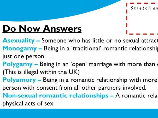 Differing Relationships (Sexuality/Healthy & Unhealthy Relationships)