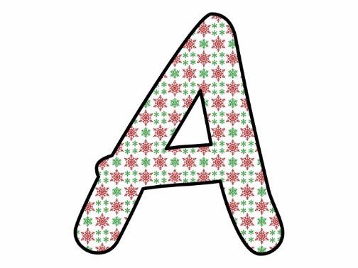 Printable display bulletin letters numbers and more: Christmas Snowflake
