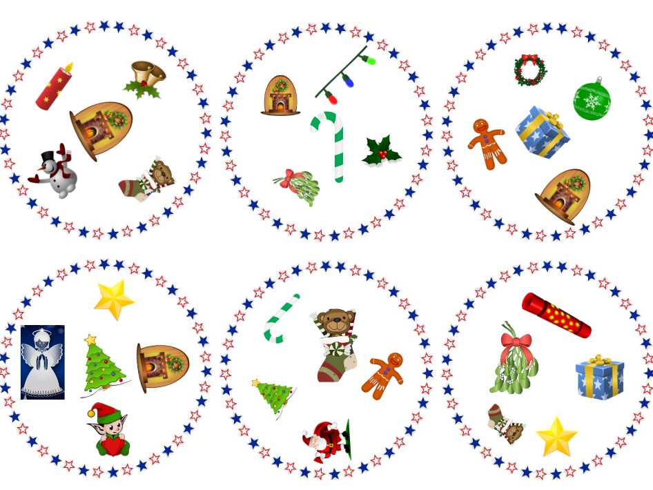 dobble-like Christmas game