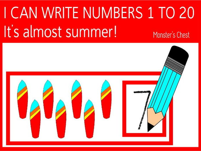 I can write numbers from 1 to 20