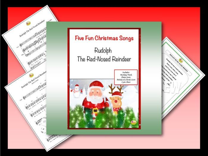 """Five Fun Christmas Songs """"RUDOLPH THE RED-NOSED REINDEER"""""""