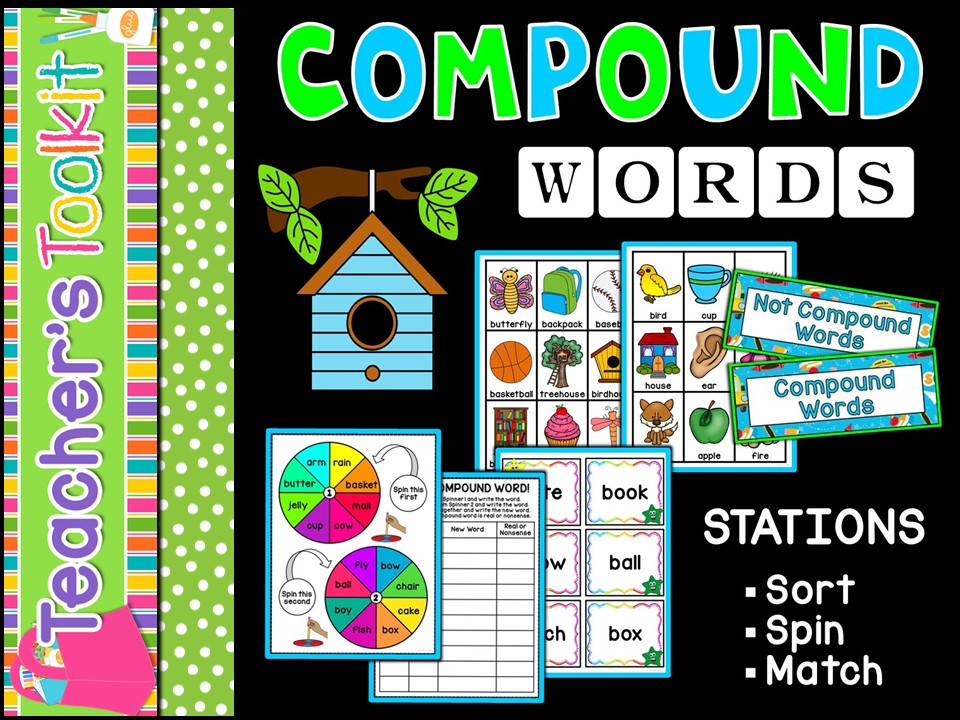 SPAG | Compound Words Stations | Games | Match