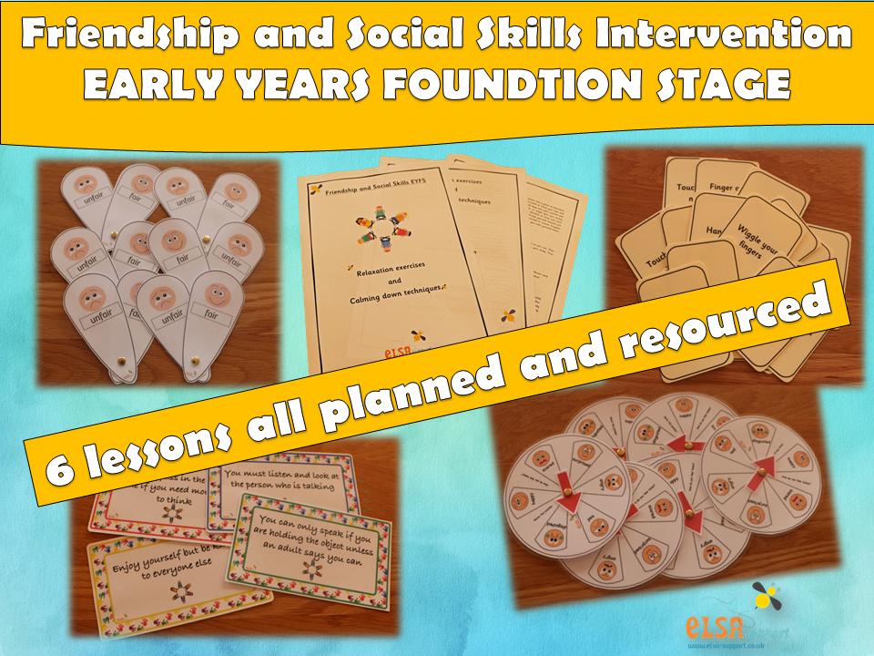 ELSA SUPPORT - Friendship and Social Skills EYFS Intervention, EMOTIONS,