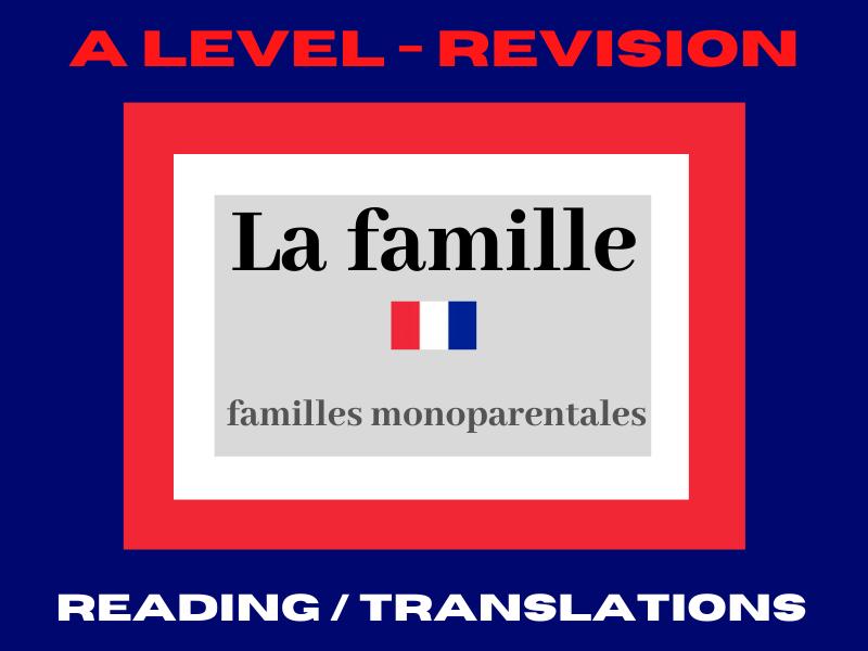 French A level les familles monoparentales