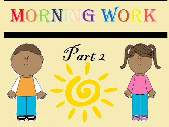 Kindergarten Morning Work Part 2 December