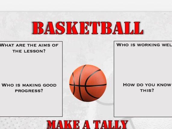Basketball - Non participant / Non doer sheet